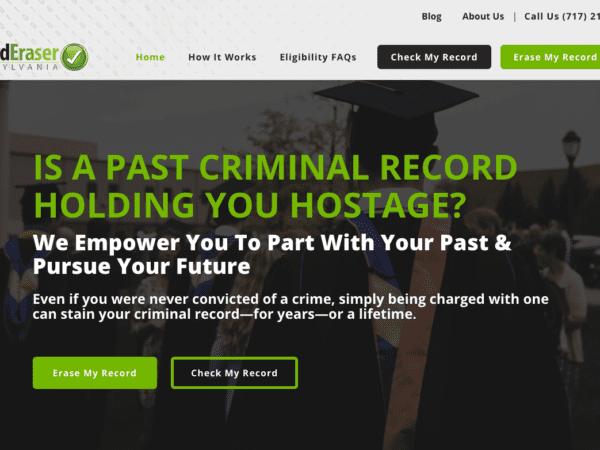 Record Eraser - Website Design & Development - Lancaster PA