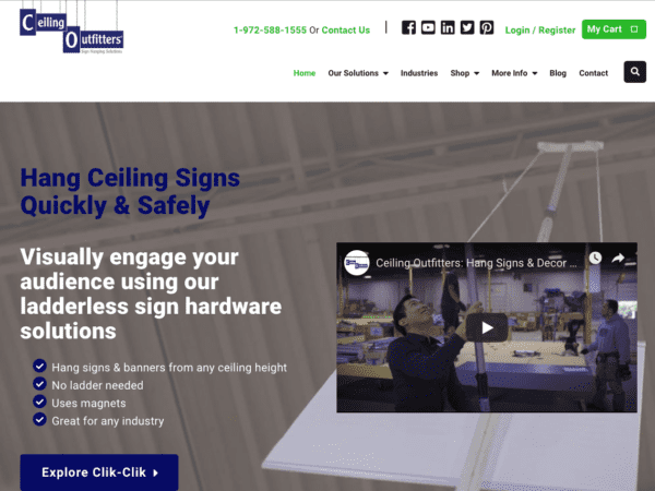 Ceiling Outfitters Website